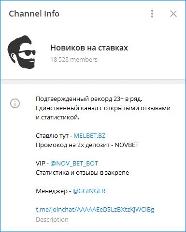 Телеграмм Новикова