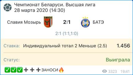 Победа по прогнозу Александра Осипова
