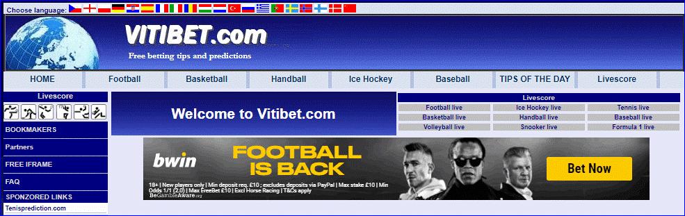 Сайт Витибет