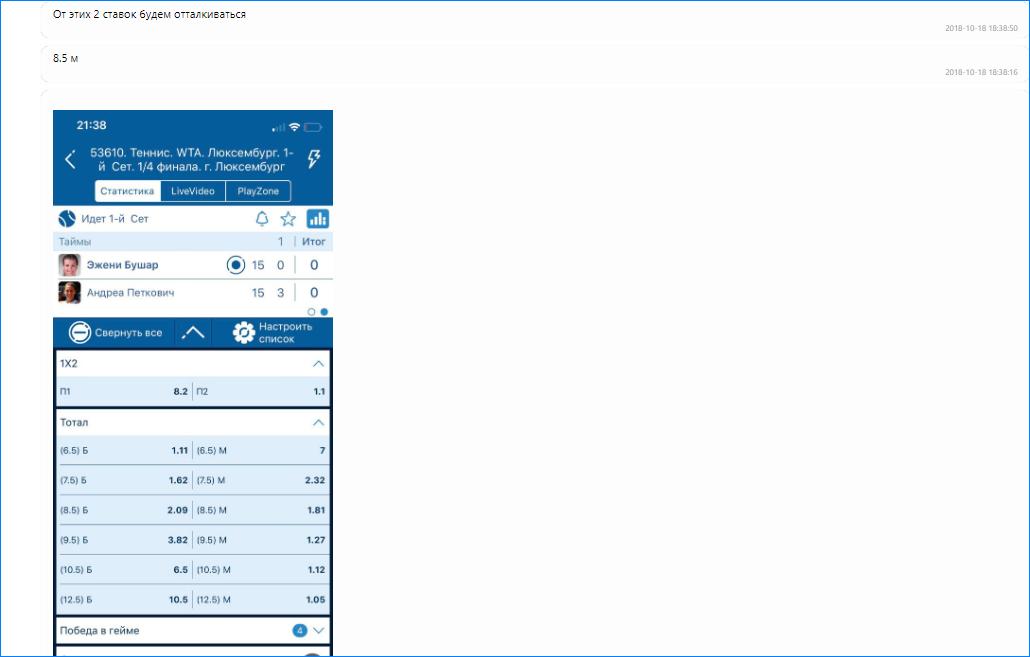 Скриншот ставки Масиса Овсепяна