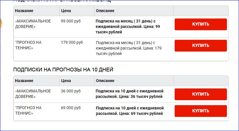Стоимость услуг Аделя Сулейманова