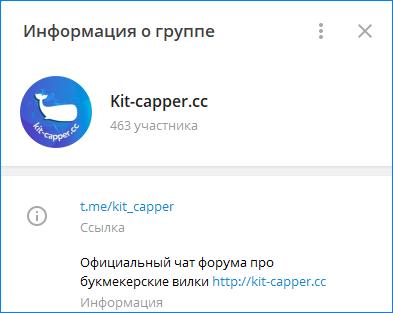 Телеграмм-канал проекта Кит Каппер
