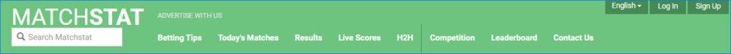 Шапка портала с результатами, таблицами и сегодняшними матчами