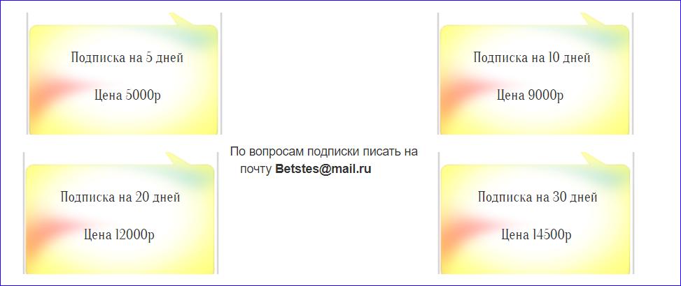 4 вида подписки и все приобретаются по почте
