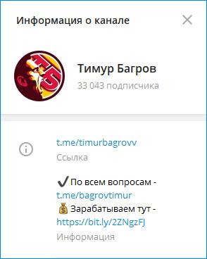 Канал прогнозиста в Telegram