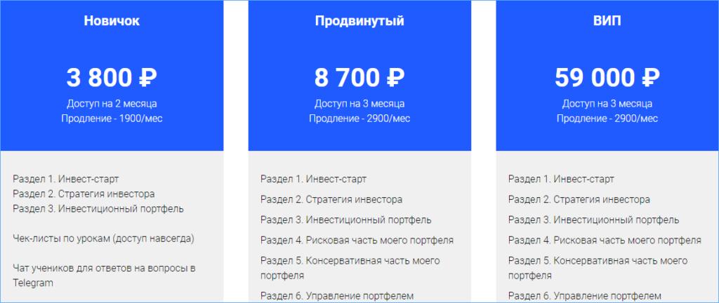 Прейскурант Юлии Михайловой