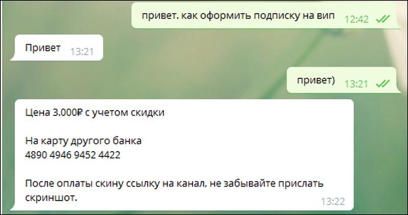 Стоимость подписки - 3000 рублей